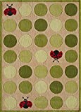 Momeni Rugs LMOJULMJ52IVY5070 Lil' Mo Whimsy Collection Kids Themed Hand Carved and Tufted Area Rug, 5'0 x 7'0, Ivory