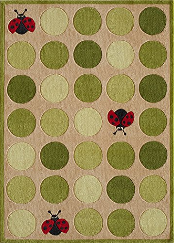 Momeni Rugs LMOJULMJ52IVY5070 Lil' Mo Whimsy Collection Kids Themed Hand Carved and Tufted Area Rug, 5'0 x 7'0, Ivory by Momeni Rugs