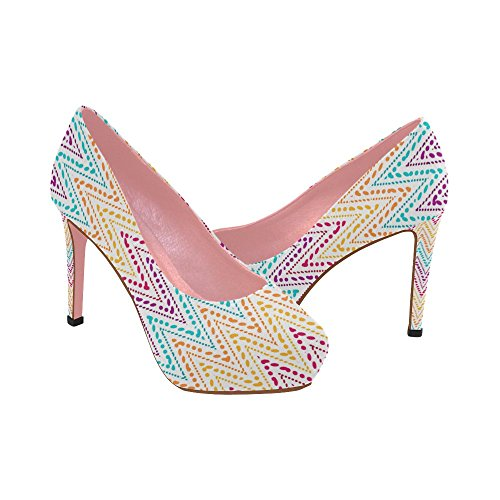 On Shoes Pattern High Pumps InterestPrint 11 Prin Aztec Ethnic Flowers Womens Wedge Colorful 5 Color2 Heel Size vgqXXW7wCx