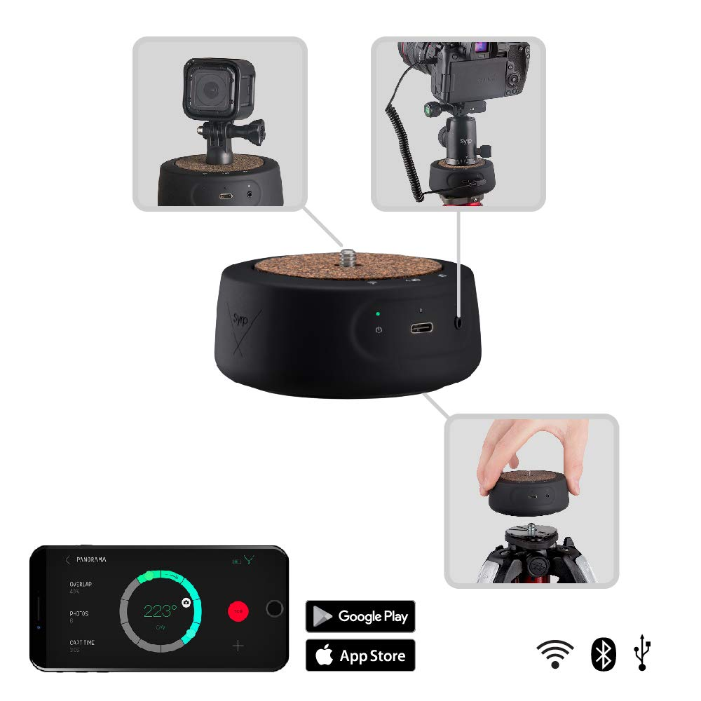 Syrp Genie Mini II Camera Motion Control - 360 Panning, Multi-Row Panorama, Time-Lapses & Motion Video