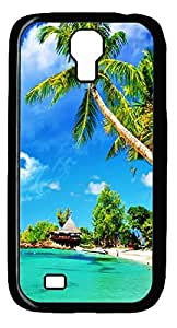 Beautiful Beaches Hard Cover Back Case For Samsung Galaxy S4,PC Black Case for Samsung Galaxy S4 i9500