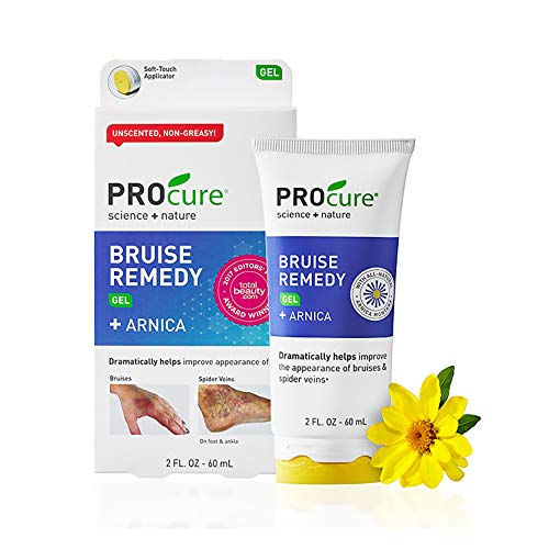 Procure Gel - PROcure Bruise Remedy Gel 2 fl oz, Bruise Remedy Gel with Arnica, Helps Improve the Appearance of Bruises and Spider Veins on Foot and Ankle
