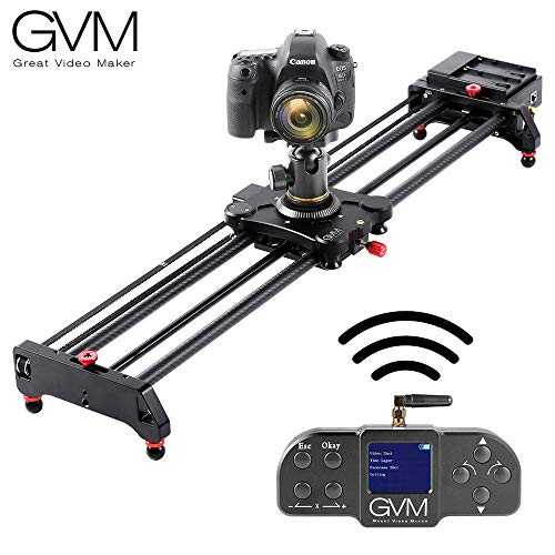 GVM Motorized Camera Slider,Dolly Track Rail System Slider with Wireless Bluetooth Controller Timelapse Shooting Video Shooting for DSLR Camera DV Video Camcorder Film Photography