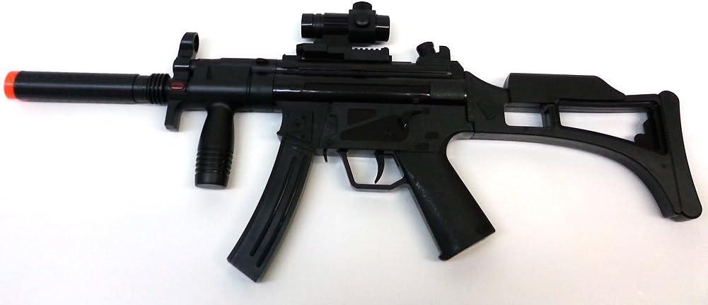 brigamo 08010–Máquina eléctrica pistola MP5Incluye tiros. sonidos