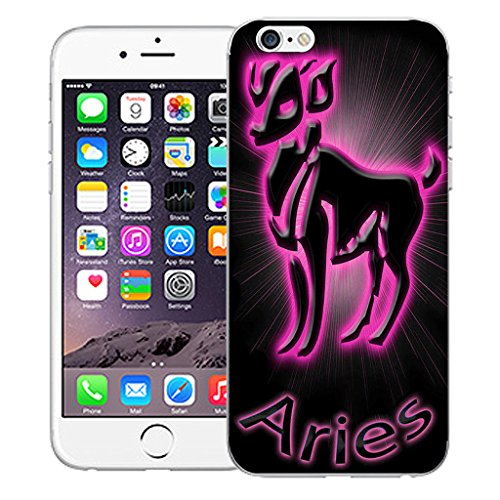 "Mobile Case Mate iPhone 6 Plus 5.5"" Silicone Coque couverture case cover Pare-chocs + STYLET - Pink Aries pattern (SILICON)"