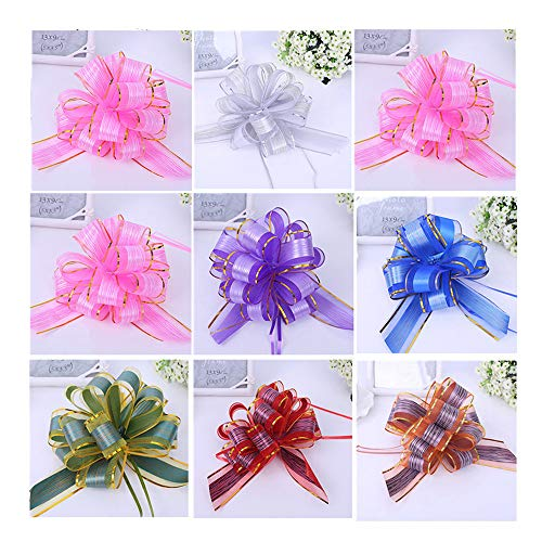 (Elegant Gift Pull Bows for Birthdays Wedding Easter Christmas,MeetRade 12PACK 6