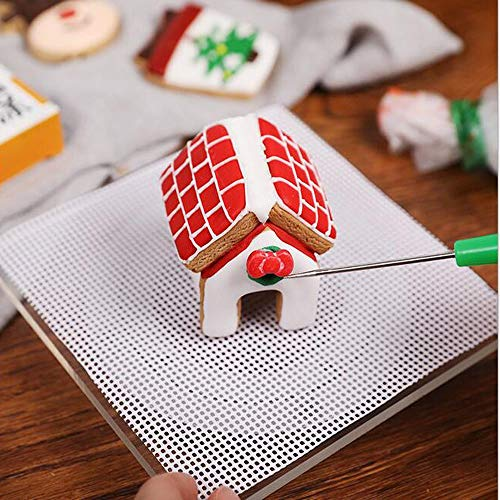 Ball's Home Cookie Decorating Turntable, Party Cake Sugar icing Cookie Decorating Supplies Tools,With Anti-Slip Silicone Mat Easy Control and Convenient,5.7 x 5.7 inch,Thicker,Acrylic,Square