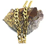 Hollywood Jewelry 24K Gold chain necklace 9MM Shinny Cuban link for Men Hip hop Women w/USA Patented (30)