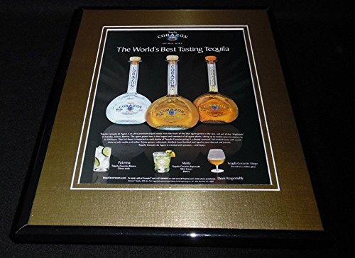 2005 Corazon Tequila Framed 11x14 ORIGINAL Vintage Advertisement