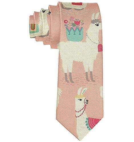 Corbata Para Hombre Corbata,Corbata Corbatas Divertidas Llama Rosa ...