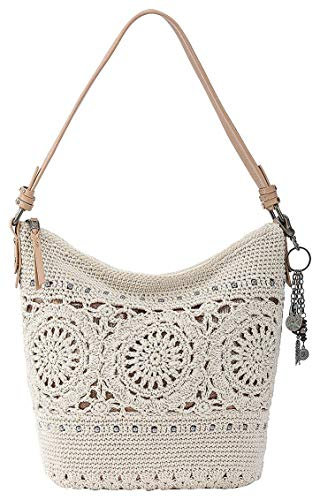 The Sak The Sequoia Crochet Hobo, Natural Medallion