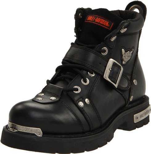 Harley-Davidson Men's Brake Buckle Boot,Black,10.5 - Up Lace Boots Leather Biker