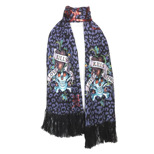 Ed Hardy Women/'s Soft Knit Warm Long Scarf Animal Printed Colors