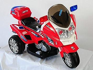 Pekecars Juegos Moto esJuguetes Policía 12vrojoAmazon Y 8nwPkXO0