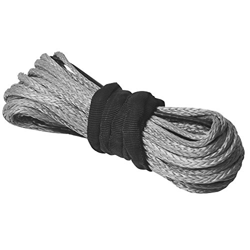 """Price comparison product image AceFox 1 / 4"""" x 50' 3 / 16""""x 50' Durable Winch Rope 7000 / 5500 LBS Synthetic ATV UTV KFI Vehicle Car Motorcycle (3 / 16"""" x 50',  Gray)"""