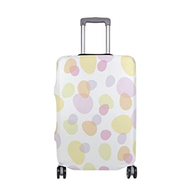 ALAZA Easter Egg In Warm Shades Elastic Travel Suitcase Protector Luggage Cover Print Design Fit 18-20 Inch S(COVER ONLY)