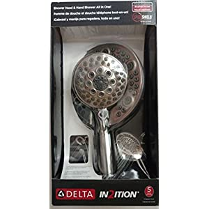 Delta 75595SN In2ition Hand Held Shower Heads 2-In-1 Combo With Holder and Flexible Hose, Satin Nickel Finish