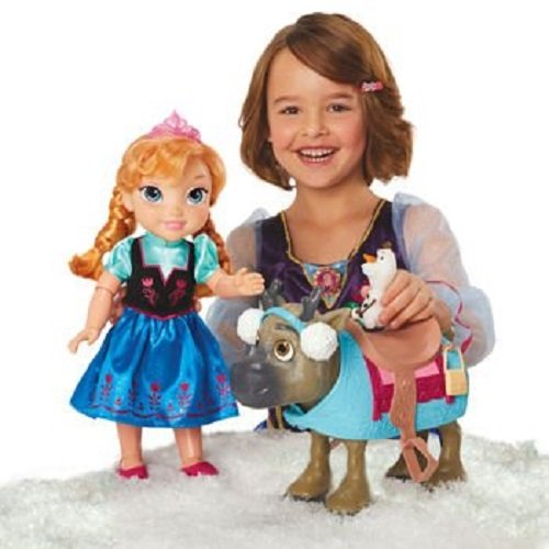 Disney Frozen Doll Set Friends Collection [Anna, Olaf & Sven With Earmuffs] (Princess Anna From Frozen)