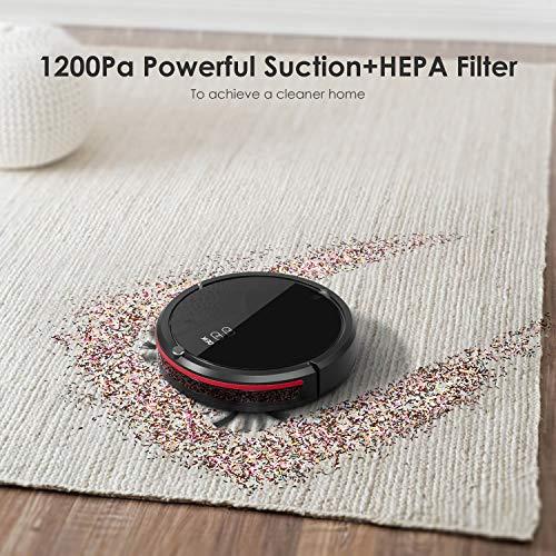 DEIK Vacuum Anti-Drop & Anti-Collision, Filter, 5 Modes for Pet Floor &