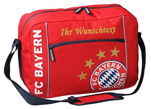 FC Bayern Schultertasche mit Ihrem Wunschtext in Ihrer Wunschfarbe (Glitzereffekt Gold) kNvM9uhD