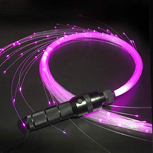 Fiber Optic Whip, 6 Foot 360 degrees Swivel, 40 Mode Effects Super Bright, Light Up Rave Toy - EDM Pixel Flow Lace Dance Festival