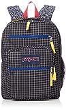 Jansport Unisex Big Student Backpacks, Black Grid, One Size