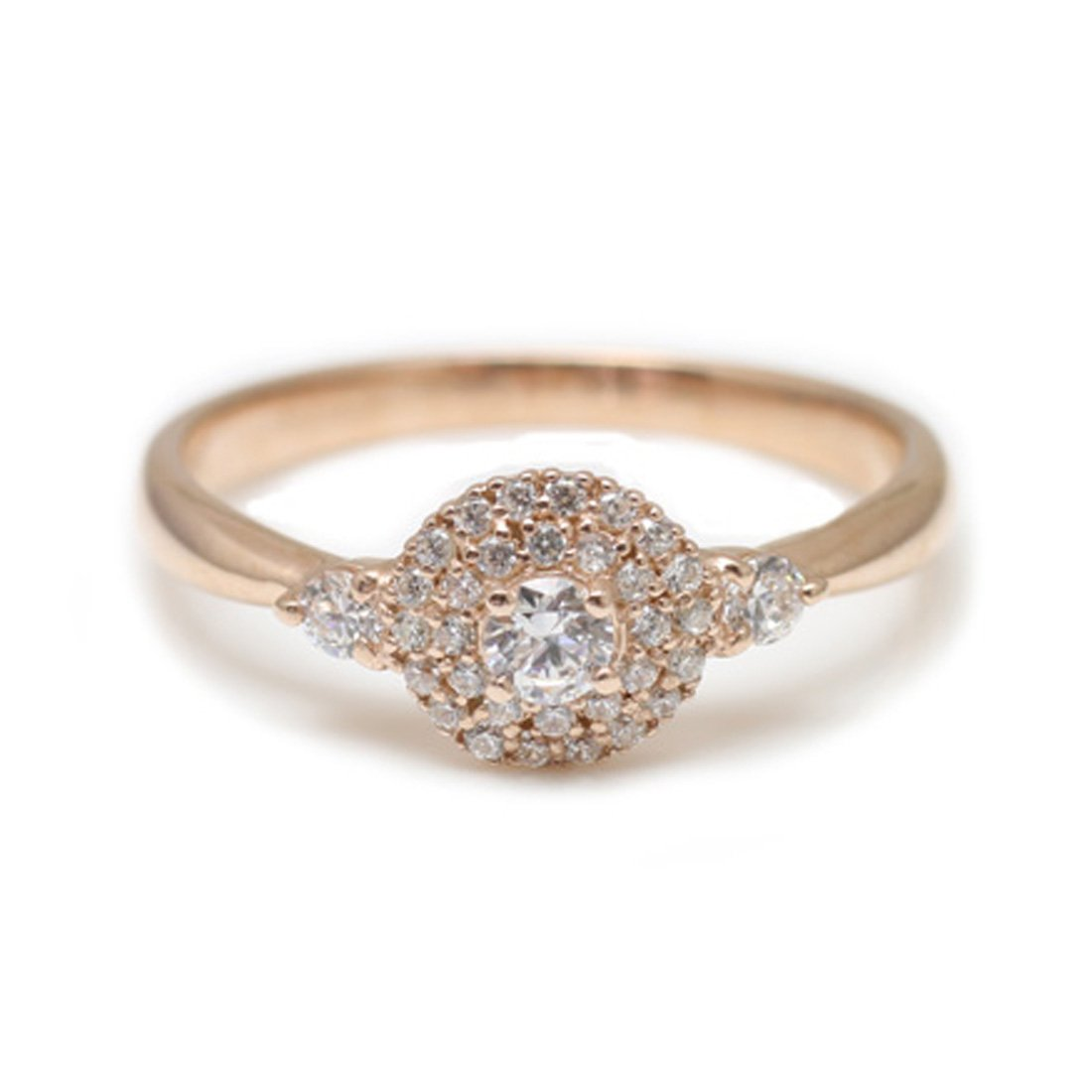 c530492b68ff [ココカル]cococaru ダイヤモンド リング K18 ホワイトゴールド 指輪 12号 天然 ダイヤ 日本製