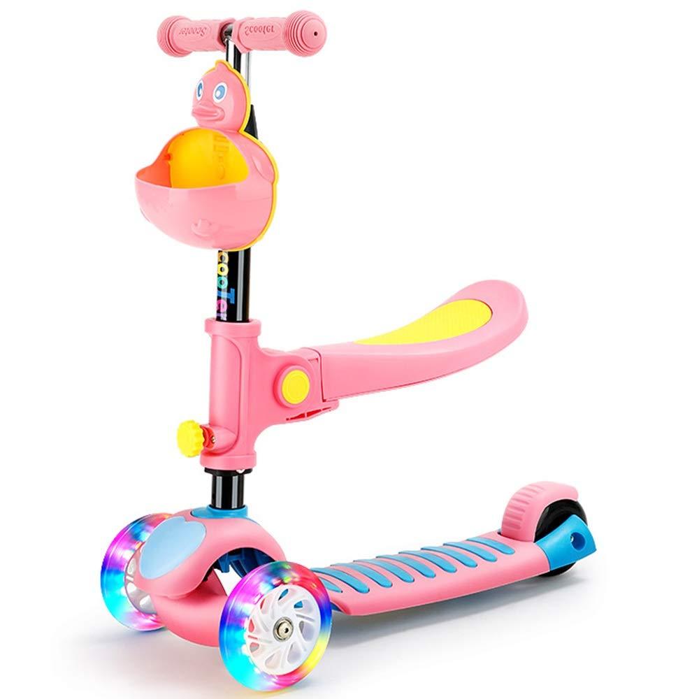 LJHBC Patinete Scooter Tres en uno Pedal de Color ampliado ...