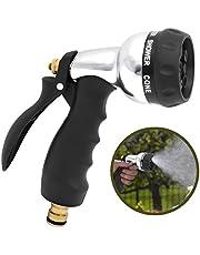 Aodoor Pistola de Riego Boquilla para Manguera, 7 Modos Adjustables para Jardineria y Limpieza - Ideal para el Césped, Plantas, Lavado de Carros