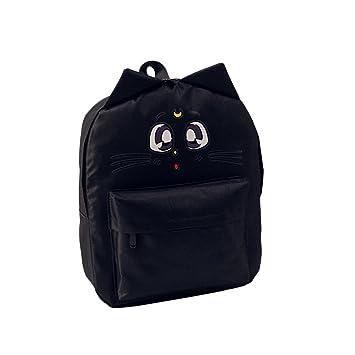 Hrph Las mujeres mochilas de lona de los ojos de gato escuela Impresión animal empaqueta para adolescentes chica mochila: Amazon.es: Deportes y aire libre
