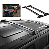 hummer cross bars - T-Foot For 06-10 Hummer H3 H3T Roof Rack Cross Bars Set W/ Lock Luggage
