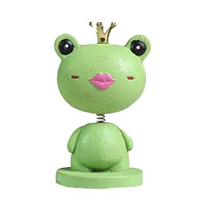 BLANCHO BEDDING Adorable princesse grenouille peinte à la main Ornements de voiture en résine Auto Bibelots 4.1x2.2