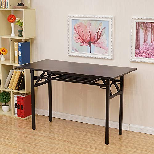 Home Office Desk Multifunctional Portable Folding Computer Desk Space Saving Long Table Simple Learning Conference Desk, Ship from USA Onefa (Wine) ()