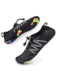 Bopika Water Shoes Sports Quick Dry Barefoot Shoes Diving Swim Surf Aqua Walking Beach for Mens Womens