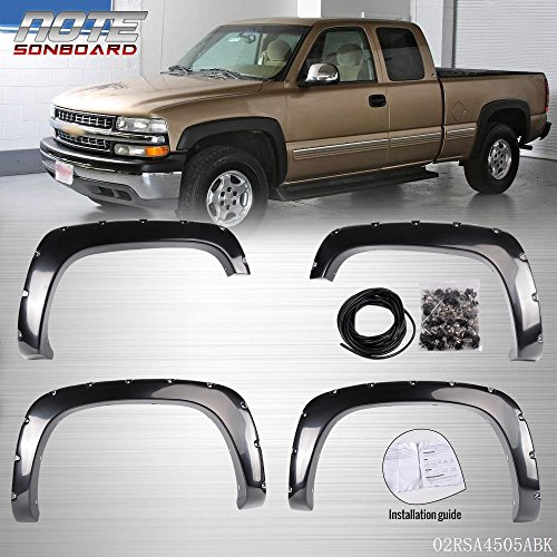 GMC Sierra Pocket Style Bolt On Rivet Fender Flares For 99-06 Chevy (Gmc Sierra Bolt)