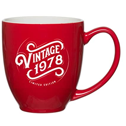 1978 40th Birthday Gifts For Women Men Red Mug