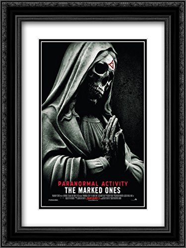 Paranormal Activity The Marked Ones 20x24 Double Matted Black Ornate Framed Movie Poster Art Print by ArtDirect