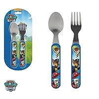 Set cubiertos cuchara y tenedor de Paw Patrol La Patrulla Canina