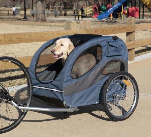 PetSafe Solvit HoundAbout Pet Bicycle Trailer for Dogs, Steel Frame, Large by PetSafe