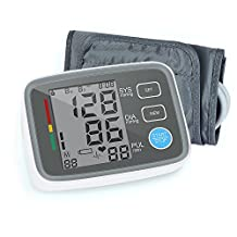 Red Medical Digital Blood Pressure Monitor Arm Automatic Blood Pressure Cuff Machine with One Size Fits All Cuff, Easy to Read and Calculation Accuracy - FDA Approved
