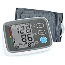 ALphagoMed Digital Blood Pressure Monitor Arm Automatic Blood Pressure Cuff Machine with One Size Fits All Cuff, Easy to Read and Calculation Accuracy - FDA Approved