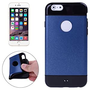 Matching Style Color Negro TPU Case Cover Shell Funda Para iPhone 6 (Dark Blue)