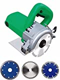OASIS Powerful cutting machine (1200 W) (11000 RPM) (110 mm) for wood/marble/tile/granite/metal cutting Free 3 wheels