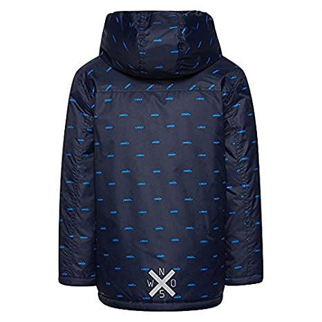 FLEECE LINED SIZES 2 TO 10 214$Tom taylor TOM TAYLOR KIDS BOYS NAVY HOODED JACKET COAT WITH CAR OR PLAID DESIGN