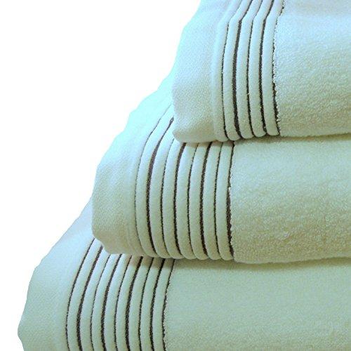 Home Juliet - Juego de 3 toallas para tocador, 33 x 50 cm, lavabo, 50 x 100 cm y baño, 100 x 150 cm, color blanco: Amazon.es: Hogar