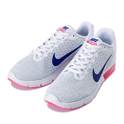 Nike Womens Air Max Sequent 2 Running Trainers 852465 Sneakers Shoes (UK 5.5 US 8 EU 39, White Concord Laser Pink 146) (Nike Air Max Lebron Pink)