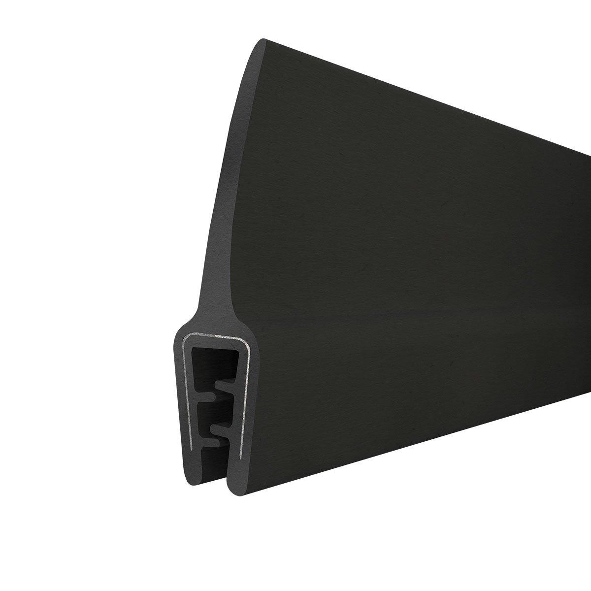 STEIGNER Junta de borde de goma T-45 Negro 10x33 mm 3 m Inserto Metá lico Perfil de caucho Protecció n de borde Refuerzo de Borde