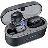 HOCOMO Wireless Earbuds, Bluetooth 5.0 True Wireless Stereo Earphones IPX7 Waterproof Sports Headphones with Charging Case and Built-in Microphone for iOS Android(Touch Control)