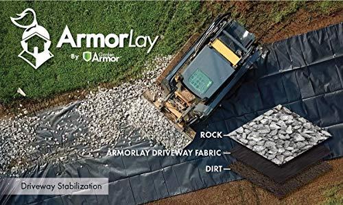 ArmorLay Commercial Grade Driveway Fabric (Black, 12.5' X 30') by Garden Armor (Image #1)