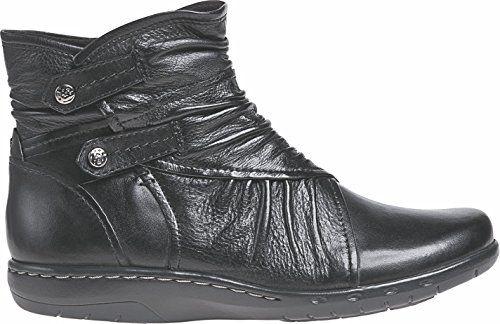 Cobb Hill Women's Pandora Ankle Boot,Black Full Grain Burnished Leather,US 5.5 M
